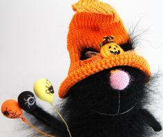 HALLOWEEN CAT  AMIGURUMI Black Halloween Cat by MiracleStoreUS
