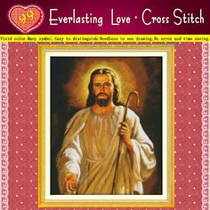 NEW arrival Jesus Christian Home Decoration 11CT correct printing on the canvas all embroidery Cross Stitch kits needlework Sets(China (Mainland))