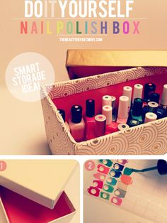 How to store my nail polish so I don't have to dump out the whole box just to find one color.  From = 5 More Things You're Still Doing Wrong | The Blush