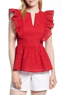 Ruffle Blouses For Your Wardrobe This Winter Source by roecuresper dress Ruffle Blouses For Your Wardrobe This Winter Source by roecuresper dress casual Product Image 1 1901 Cotton Eyelet Ruffle Top (Regular & Petite) Ruffle Top, Ruffle Blouse, Eyelet Top, Peplum Blouse, Dress Lace, Modest Fashion, Fashion Dresses, Winter Mode, Dress Sewing Patterns