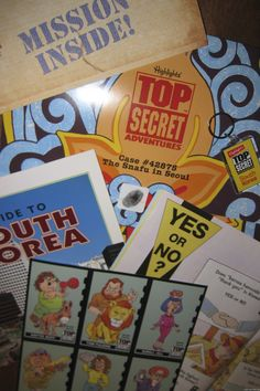 My kids loved getting Highlights Top Secret Adventure each month and solving the mysteries from around the world.