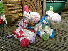 Ravelry: Dotty and stripes the giraffes pattern by Sally Titterton
