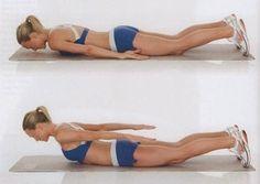 Perder a gordurinha das costas com exercícios.