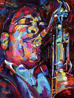 John Coltrane Jazz Saxophone portrait art painting by Debra Hurd -- Debra Hurd Jazz Painting, Image Painting, Jazz Saxophone, Saxophone Players, Jazz Poster, Jazz Art, Instruments, Portrait Art, Portraits