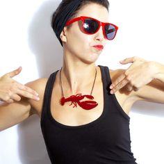 Langouste rouge collier par Swank sur Etsy https://www.etsy.com/fr/listing/57471771/langouste-rouge-collier