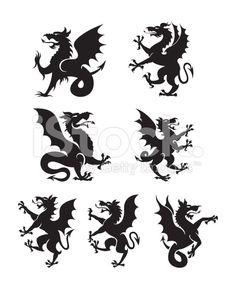 Heraldry dragons stock vector art 23417373 - iStock