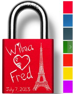 Create your very own engraved custom Love Lock at MakeLoveLocks.com