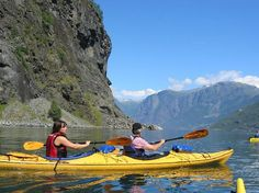 Njord kayak tours. Depart from Flam beach.