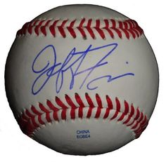 Jeff Francis Autographed ROLB Baseball, Cincinnati Reds, Colorado Rockies, Proof Photo by Southwestconnection-Memorabilia. $39.99. This is a Jeff Francis autographed Rawlings official league baseball. Jeff signed the ball in blue ballpoint pen. Check out the photo of Jeff signing for us. Proof photo is included for free with purchase. Please click on images to enlarge.