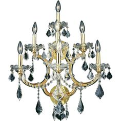 Vintage Crystal Chandelier, Maria Theresa, Wall Lights, Ceiling Lights, Gold Walls, Lighting Store, Wall Sconces, Ceiling Fan, Swarovski Crystals