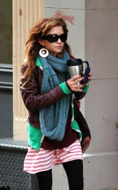 Mary Kate Olsen, I just love her layered fashion and hair