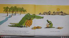 Histoire à écouter - Texte et AUDIO - Je mangerais bien un enfant - Tous les matins, Maman Crocodile donne à son garçon de bonnes bananes. Mais un matin Achille refuse de manger. Ses parents vont tout essayer pour qu'il mange des bananes mais lui, ce qu'il veut manger, c'est un enfant !