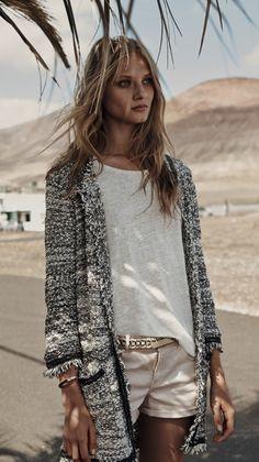 Chanel long jacket + shorts
