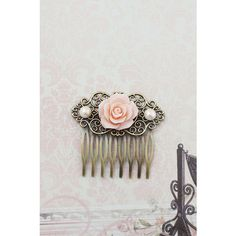Wedding hair accessories Bridesmaids Gift Wedding Hair Comb Vintage... ($14) ❤ liked on Polyvore featuring accessories, hair accessories, bridal hair accessories, bride hair comb, vintage style hair comb, bridal hair combs and vintage style hair accessories