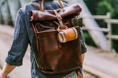 Ruck Sack and aviator mug by Loyal Stricklin