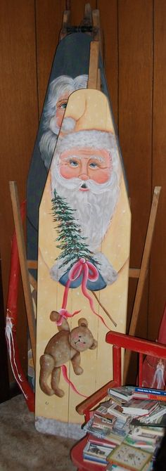 painted ironing board (wish I knew how to paint)