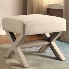 Rondo Living Room Beige Upholstered Ottoman/ Bench | Overstock.com Shopping - The Best Deals on Ottomans