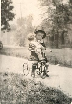 C1915 Girl Holding Antique Doll RPPC Photo | eBay