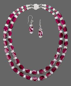 Jewelry Design - double strand necklace and earring with Swarovski crystal -. - Jewelry Design – double strand necklace and earring with Swarovski crystal -… – - Beaded Jewelry Designs, Bead Jewellery, Jewelry Making Beads, Jewelry Patterns, Jewelry Trends, Jewelry Sets, Jewelery, Fine Jewelry, Handmade Jewelry