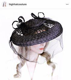 DEPOSIT 4 Cher / 1930s Vintage Hat / Wide Brim Hat / Black