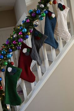stockings from sweaters, cool ideas