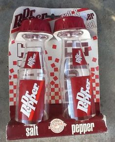 Dr. Pepper salt and pepper shakers :)