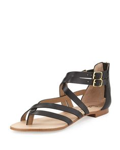 Caddie Strappy Leather Sandal, Black by Splendid at Neiman Marcus Last Call.