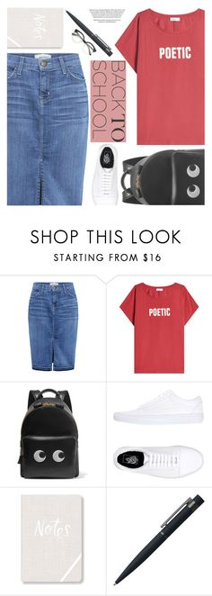 """Go Back -To -School Shopping!"" by aislinnhamilton1993 ❤ liked on Polyvore featuring Current/Elliott, Closed, Anya Hindmarch, Vans, Fringe, John Lewis and BackToSchool"