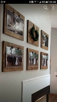 Alternative way to picture frames on wall. House to home idea