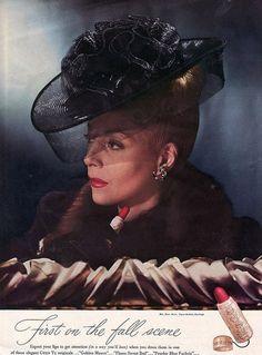 love ~hat featured in 1940s Chen Yu Lipstick.