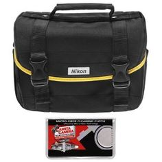 Nikon Starter Digital SLR Camera Case - Gadget Bag and Cameta Microfiber Cleaning Cloth by Nikon. $24.95. Protect your valuable photography equipment with this sturdy, water-repellant carrying case from Nikon. Constructed from durable, ballistic nylon, this compact system case is ideal for storing your Nikon D40, D40x, D60, D3000, D5000 or other similarly-sized digital SLR camera, plus lenses and accessories. The interior of this case is well-padded to protect a...