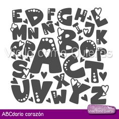 abecedarios con diferentes tipos de letras - Buscar con Google