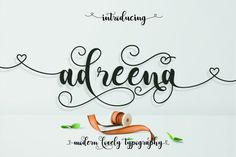 Hello friends! If you are looking for a unique handwriting or calligraphic design for your design work. Then this is a perfect choice. Introducing Adr...