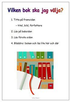 Informationskarta som kan vara en vägledning i att välja bok.