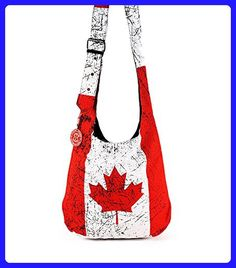 13ab848ab Robin Ruth - Red   White Canada Flag Adjustable Shoulder Bag - Shoulder  bags ( Amazon Partner-Link)
