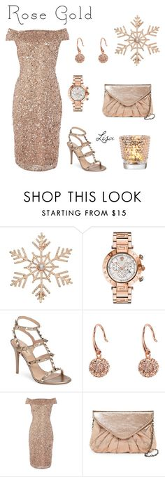 """Rose Gold"" by coolmommy44 ❤ liked on Polyvore featuring John Lewis, Versace, Valentino, Vera Bradley, Adrianna Papell, Urban Expressions, Cultural Intrigue, rosegold, polyvoreeditorial and polyvorecontest"