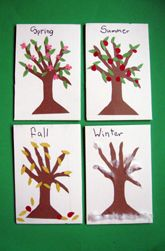 Kindergarten Paper & Glue Crafts Activities: Make a Changing Seasons Tree