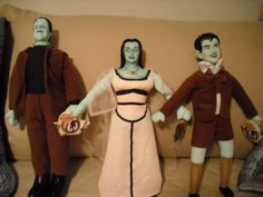 Toy Works THE MUNSTERS Herman Lilly Eddie 14 Dolls With Tags