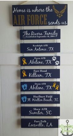 Home is where the Air Force sends us, Patriotic Wall Décor, Military Retirement Gift, Duty Station Sign - Atpl Theorie - Air Force Military Home Decor, Military Crafts, Military Signs, Military Love, Military Spouse, Military Girlfriend, Military Wife Quotes, Military Shadow Box, Military Wedding