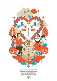 Walentynki - wall-being Totoro, Folk, Playing Cards, Poster, Polish, Design, Vitreous Enamel, Forks, Nail Polish