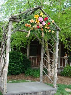 Rustic Wedding Arbors | Guest Project — Throw a Rustic Wedding & make a DIY Tree Cupcake ...