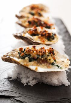 Oyster Rockefeller. @Kristyn Frank let's make these next time we're able to visit!