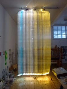 Fibre optic light tapestries