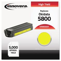 Compatible With 43324401 (5500) Toner, 5000 Yield, Yellow