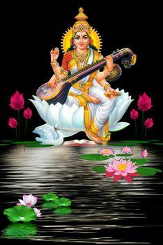 Saraswati Photo, Saraswati Goddess, Durga, Good Morning Dear Friend, Good Morning Gif, Morning Images, Shiva Art, Krishna Art, Hindu Art