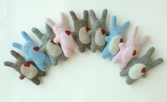 How cute are these bunnie softies from Little Stitch? They'd be perfect for Easter!! Stocking 3.1.12 @ 8pm est #Easter