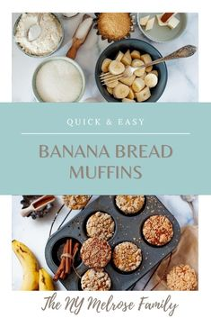 This banana bread recipe will become an instant family favorite in your household. I can't recommend it enough. And be sure to follow my tips and tricks below to make the perfect muffins.  #themelrosefamily #newrecipe #bananabreadmuffin #banana #breadmuffin #muffin #muffinbread