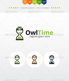 Buy OwlTime by LovinBue on GraphicRiver. Simple logo, the idea is combination of the owl and the sand-glasses timer. Suitable for any purposes, from school, l. Logo Design Template, Logo Templates, Owl Logo, Bird Logos, Portfolio Logo, Creative Icon, Animal Logo, Brand Identity, Icon Design