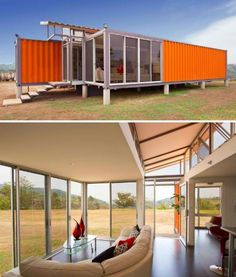 The Containers of Hope project is just one example of the many possibilities that reclaimed shipping containers have to offer as the basis of small, efficient, and easily transportable homes. This 1,000-square-foot house by architect Benjamin Garcia Saxe is made of two used 40-foot shipping containers, with a raised roof and some of the walls replaced with glass. The containers have been insulated to control the temperatures inside. Shipping containers are cheap and readily available.