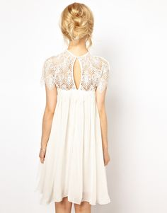 ASOS: Lydia Bright - Line Dress with Lace Top